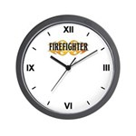 Firefighter Double Flames Wall Clock