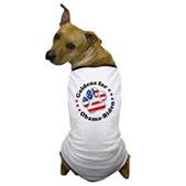This great Goldens for Obama-Biden dog t-shirt lets your dog show support for the Democratic ticket! A paw print is filled w/ stars & stripes. A pro-Obama-Biden dog t-shirt for patriotic pooches!