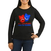Vote Obama: No Drama! Women's Long Sleeve Dark T-S