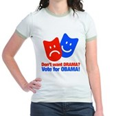 Vote Obama: No Drama! Jr. Ringer T-Shirt