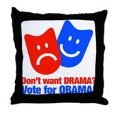 Vote Obama: No Drama! Throw Pillow