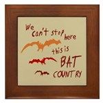Bat Country Framed Tile
