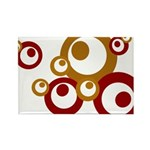 Retro Orange Circles Rectangle Magnet