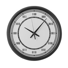Large Binary Wall Clock