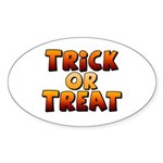 Trick or Treat Sticker (Oval 10 pk)