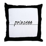 Minimal Princess Costume Throw Pillow