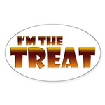 Glowing I'm the Treat Oval Sticker (10 pk)