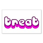 Retro Treat Rectangle Sticker (Rectangle)
