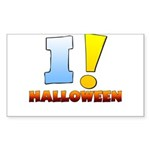 I ! Halloween Rectangle Sticker 50 pk)