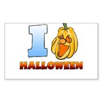 I Love Halloween Rectangle Sticker 50 pk)