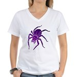 Purple Spider Women's V-Neck T-Shirt