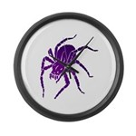 Purple Spider Large Wall Clock