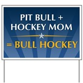 Anti-Palin Bull Hockey Yard Sign