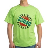 Vintage Key West 33040 Green T-Shirt