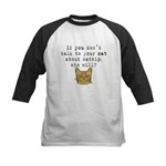 Talk to your cat about catnip Kids Baseball Jersey