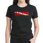 Tauchen German Scuba Flag Women's Dark T-Shirt