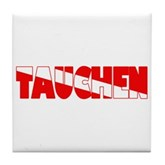 Tauchen German Scuba Flag Tile Coaster