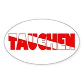 Tauchen German Scuba Flag Oval Sticker