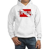 Pirate-style Diver Flag Hooded Sweatshirt