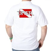 Pirate-style Diver Flag Golf Shirt