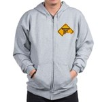 Watch Out! Zip Hoodie