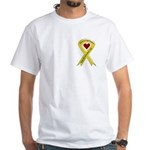 Keep My Grandson Safe Ribbon OIF White T-Shirt