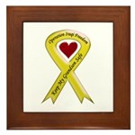 Keep My Grandson Safe Ribbon OIF Framed Tile