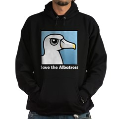Save the Albatross (close-up) Hoodie (dark)