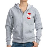 Scuba Flag Dollar Sign Women's Zip Hoodie