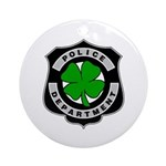 Irish Police Ornament (Round)