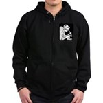 Science Club Rules Zip Hoodie (dark)