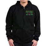 Normal Autistic Zip Hoodie (dark)