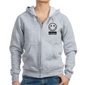 Obama Makes Me Smile Women's Zip Hoodie
