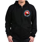 Obama For Peace Zip Hoodie (dark)