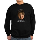 Anti-Palin Got Ethics? Sweatshirt (dark)