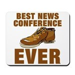 Anti-Bush Shoe News Conf. Mousepad