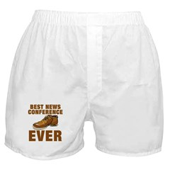 Anti-Bush Best News Conference Ever Shoe Incident Boxer Shorts