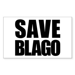Save Illinois Governor Blagojevich, he's innocent! Sticker (Rectangle)