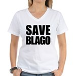 Save Illinois Governor Blagojevich, he's innocent! Women's V-Neck T-Shirt
