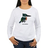 Green Kingfisher Women's Long Sleeve T-Shirt