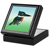 Green Kingfisher Keepsake Box
