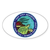 Take Only Memories (turtle) Oval Sticker
