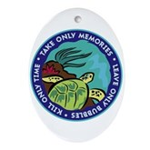 Take Only Memories (turtle) Oval Ornament