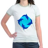 Dolphin Ring Jr. Ringer T-Shirt