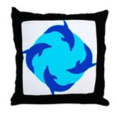 Dolphin Ring Throw Pillow