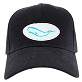 Stylized Sperm Whale Black Cap