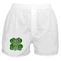 Lucky Enough To Be Irish Boxer Shorts