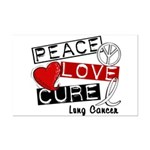PEACE LOVE CURE Lung Cancer Mini Poster Print