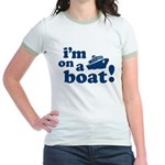 I'm on a Boat! Jr. Ringer T-Shirt