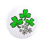 "Irish Shamrocks 3.5"" Button"